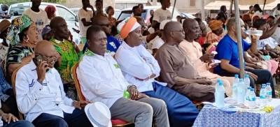 Côte d'Ivoire :   Législatives 2021 à Daloa, les candidats PDCI-EDS reçoivent le sout...
