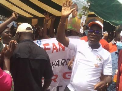 Côte d'Ivoire : Diabo, qualifié de « messie pour le Gblo », le candidat du RHDP aux l...