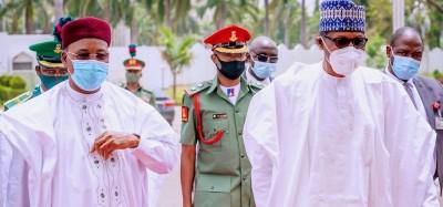 Nigeria-Niger :  Buhari jette des fleurs à Issoufou pour le respect des principes démocratiques