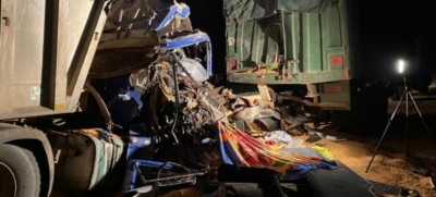 Côte d'Ivoire : Nouvelle collision entre deux camions sur l'autoroute, un mort
