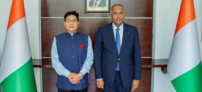 Côte d'Ivoire : L'Inde entend renforcer sa coopération économique, indique l'ambassad...