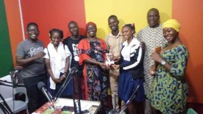 Côte d'Ivoire : Bouaké, réunissant des élèves et étudiants dans un Club Presse, un jo...