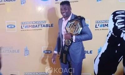 Cameroun : MMA/UFC, accueil triomphal de Francis Ngannou 1er africain champion du monde poids lourds de la plus prestigieuse ligue d'arts martiaux mixtes