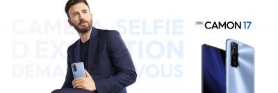 Tecno Mobile : Chris Evans, nouvel ambassadeur mondial de la marque arrive avec la série des CAMON 17