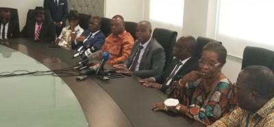 Côte d'Ivoire : Reçus par KKB, les anciens exilés conduits par Katinan expriment leur...