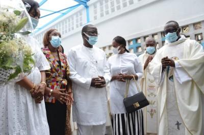 Côte d'Ivoire :  Après sa guérison, Jeannot Ahoussou-Kouadio rend gloire à Dieu et à tous les Ivoiriens pour leurs prières au cours d'une messe d'action de grâce