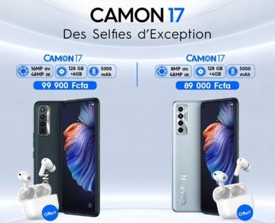 Tecno Mobile : La série des Camon 17 est disponible sur le marché Ivoirien