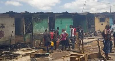 Côte d'Ivoire : Yopougon, des magasins et des maisons partent en feu suite à un incendie
