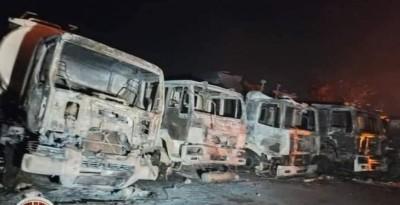 Burkina Faso : Un violent incendie ravage des camion-citerne en stationnement