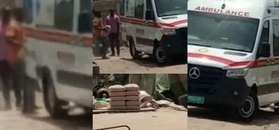 Ghana :  Scandale d'une ambulance transportant du ciment