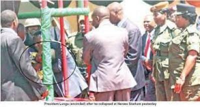 Zambie : Le Président Edgar Lungu s'écroule lors d'un évènement public retransmis en direct