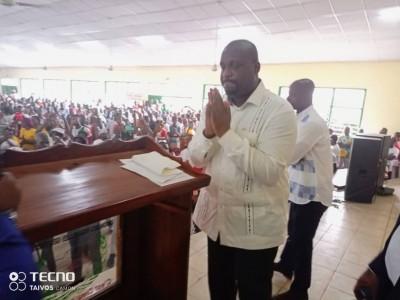 Côte d'Ivoire :  Après dix ans d'absence, de retour à Daloa, Stéphane Kipré à ses par...