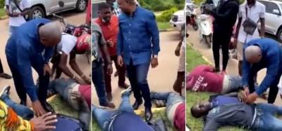 Ghana : Mahama s'improvise en secouriste sur une route