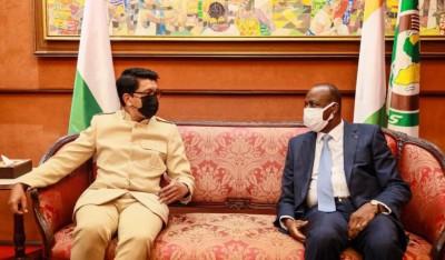 Côte d'Ivoire-Madagascar : Andry Rajoelina à son arrivée à Abidjan pour le sommet de l'IDA se réjouit d'être aux côtés de Ouattara pour financer des projets de développement