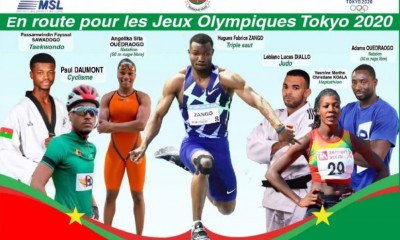 Burkina Faso : Sept burkinabè en lice dans cinq disciplines aux JO Tokyo 2020