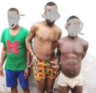 Côte d'Ivoire : Axe Bonon-Gonaté, 03 présumés braqueurs ayant emporté une arme de dotation policière lors d'une attaque, interpellés