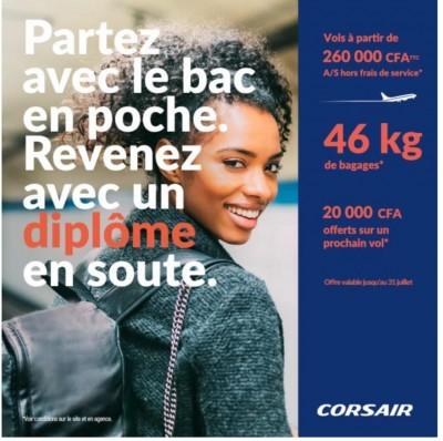 Corsair offre de nouveaux horizons aux étudiants ivoiriens