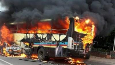 RDC : Collision entre un camion-citerne et un bus, 33 personnes meurent carbonisées