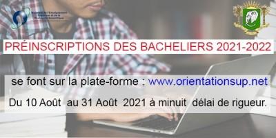 Côte d'Ivoire : Universités et grandes écoles, les pré-inscriptions des nouveaux bach...