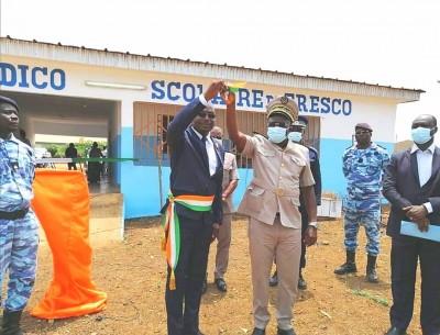 Côte d'Ivoire : Fresco, le premier magistrat Fulbert Beugrefoh dote la ville d'un centre Medico scolaire