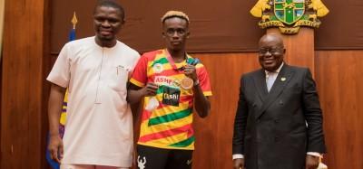 Ghana :  Après JO de Tokyo, Samuel Takyi reçoit 30 000 dollars et une voiture