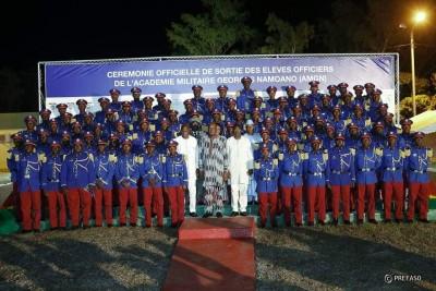Burkina Faso : Académie militaire Georges Namoano, 70 sous-lieutenants pour la défense nationale