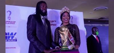 Togo :  Trophée de la coupe du monde 2022 à Lomé