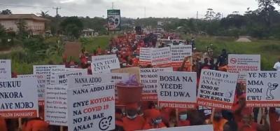 Ghana :  Manifestation et pétition à Elubo pour la réouverture de la frontière Ghana-Côte d'Ivoire