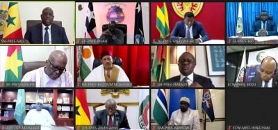 Cedeao :  Une délégation attendue en Guinée et décisions du sommet virtuel