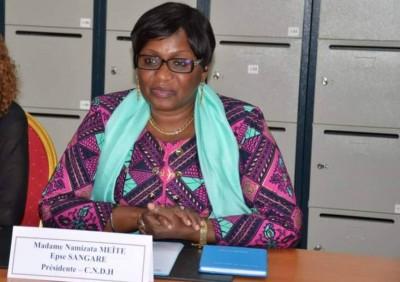 Côte d'Ivoire :    Droits de l'Homme dans l'espace Francophone, Namizata Sangaré, Pré...