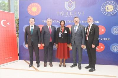 Côte d'Ivoire : 76ᵉ  session des Assemblées générales des Nations unies, Kandia Camara invitée spéciale de Erdogan à l'inauguration du building de la délégation permanente de la Turquie
