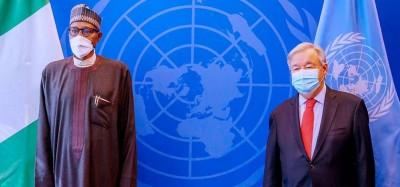 Nigeria-ONU :  Guterres à Buhari « usez de votre leadership pour stabiliser l'Afrique de l'Ouest »