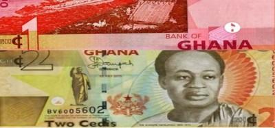 Ghana :  Retrait programmé des billets de 1 et 2 Ghana Cedis