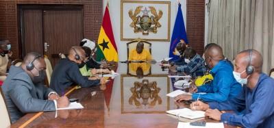 Ghana-Guinée :  Plan de transition du CNRD présenté à Akufo-Addo, cas de Condé et position de la CEDEAO