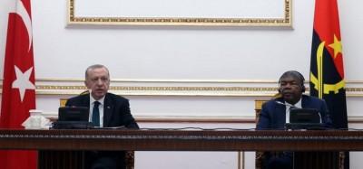 Angola-Turquie:  Visite du Président Erdoğan, des accords et un vent de renouveau soufflé