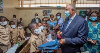 Côte d'Ivoire : En visite à Adjamé dans l'école où il a fait le CP1, les conseils avisés de Patrick Achi aux élèves