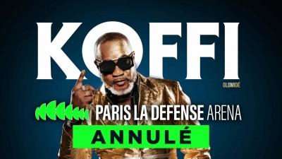 RDC-France : Coup dur pour Koffi Olomidé, son concert à Paris annulé