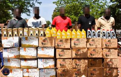Burkina Faso : Plus de 3000 bidons d'huile de vidange contrefaite saisis