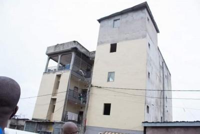 Côte d'Ivoire : À Koumassi, un immeuble R+3 présentant évidents d'affaissement évacué...