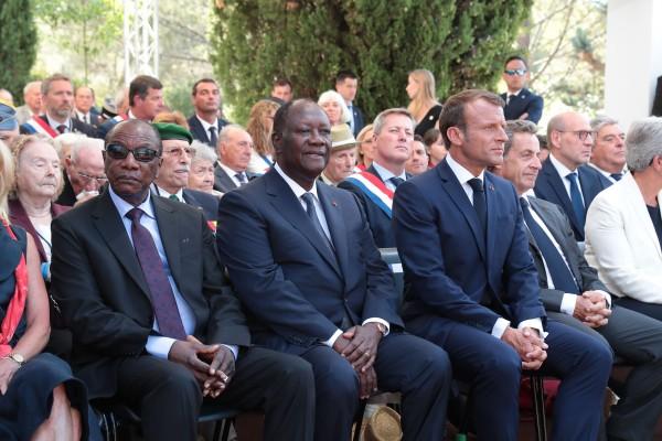 Côte d'Ivoire-France: Alassane Ouattara prend part aux côtés de Macron, Sarkozy et Condé au 75e anniversaire du débarquement de Provence