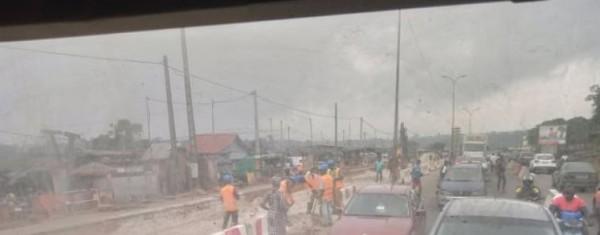 Côte d'Ivoire : Attécoubé, les travaux de déplacement des réseaux du 4è pont et  la galère des usagers