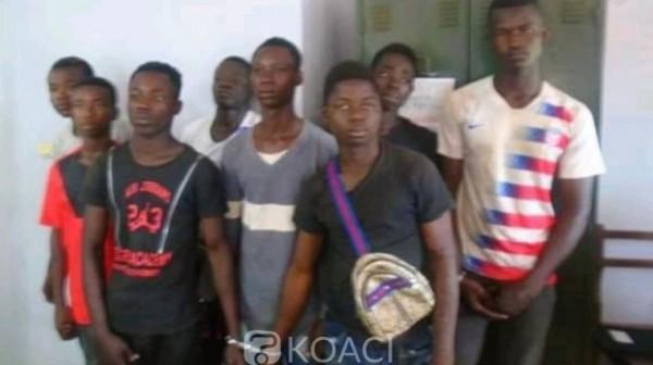 Côte d'Ivoire: Tiébissou, suite à un cambriolage échoué, 8 malfrats d'un redoutable gang appréhendés