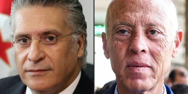 Tunisie: Présidentielle, vers un duel entre l'universitaire Kais Saied et l'homme d'affaires emprisonné Nabil Karoui