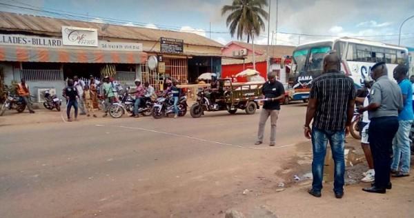 Côte d'Ivoire: Bouaké, violant toutes les règles de conduite, un taximan entraîne un gendarme dans un accident
