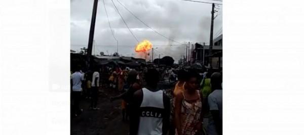 Côte d'Ivoire: A Marcory Anoumabo, un incendie se déclenche dans un entrepôt de vente de gaz, des blessés annoncés