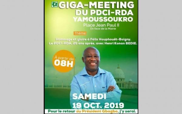 Côte d'Ivoire: Un discours au nom de Gbagbo sera prononcé au meeting du PDCI par Assoa Adou
