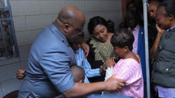 RDC: Felix Tshisekedi se rend auprès des familles des victimes du crash