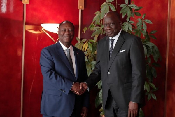 Côte d'Ivoire-Sénégal: L'ambassadeur Abdou Lahat Sourang vient faire ses adieux à Alassane O...