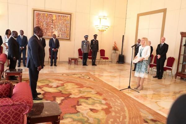 Côte d'Ivoire: Alassane Ouattara reçoit les Lettres de créance de cinq nouveaux Ambassadeurs, Israël, Suisse, Iran, Egypte et Centrafrique