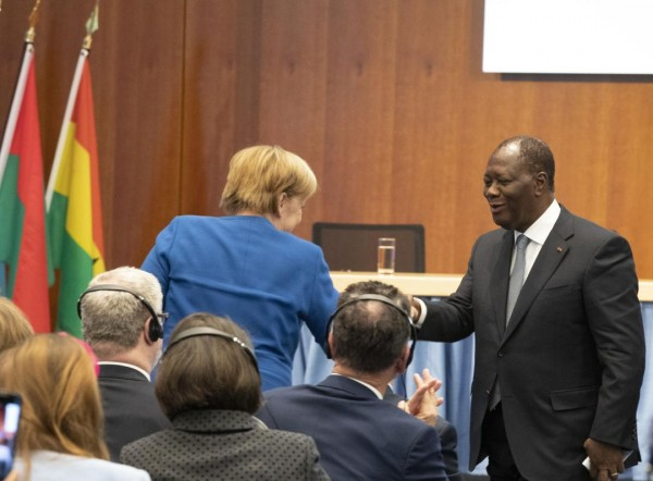 Côte d'Ivoire: Ouattara aux côtés de Merkel à la Conférence du G20 sur l'Investissement Dire...